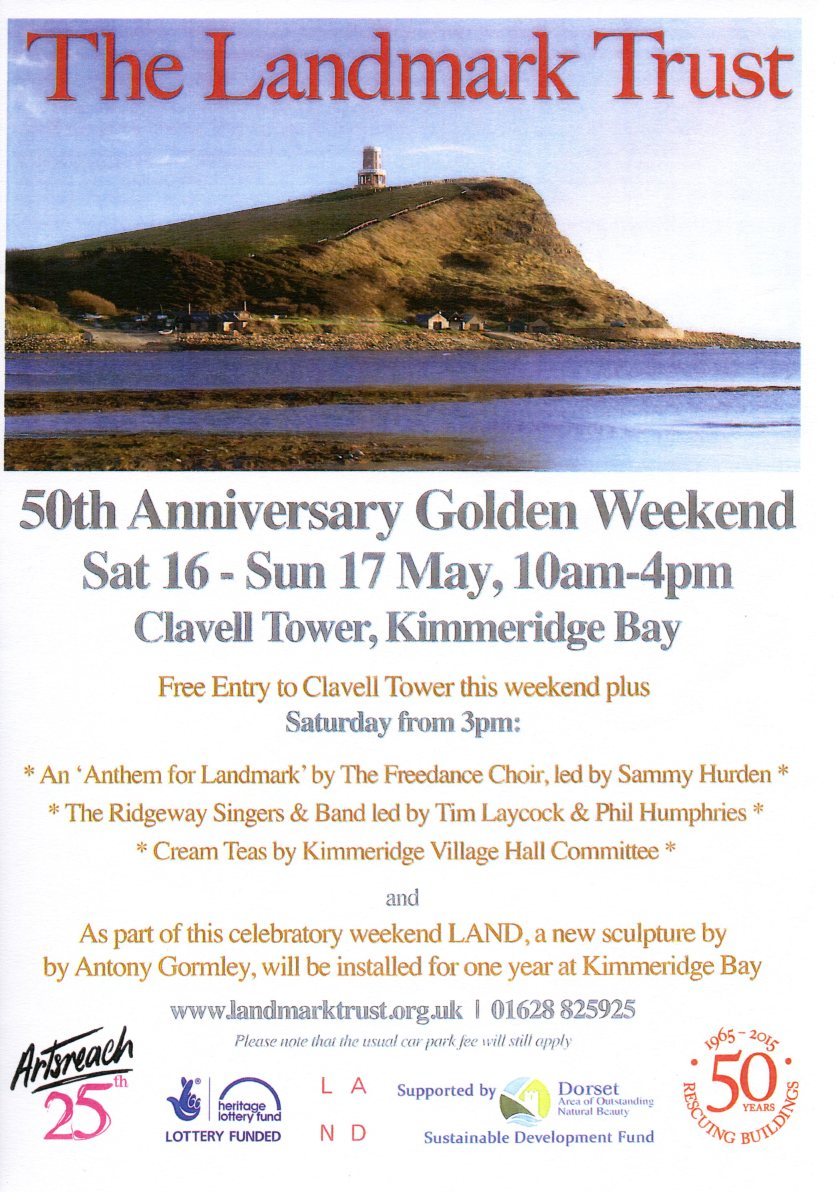 Flyer with pictuure of the tower at Kimmeridge